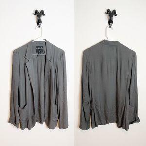 Talula Kent Blazer Size 8 Dark Grey